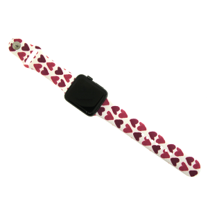 Watch Band 039e 08 heart print pink 42mm 44mm