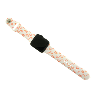 Watch Band 033d 08 heart white pink 42mm 44mm
