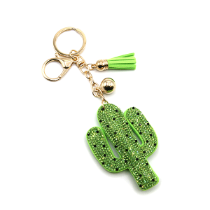 Keychain 247a 46 puffy cactus green