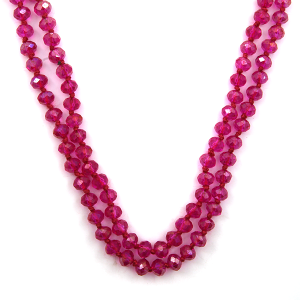 Necklace 1851b 46 Encour 30 60 inch bead necklace fuchsia 374