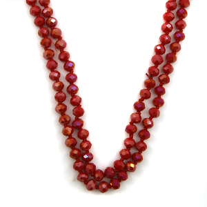 Necklace 1865a 46 Encour 30 60 inch bead necklace red 407