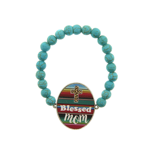 Bracelet 167c 47 Oori navajo bead blessed mom serape
