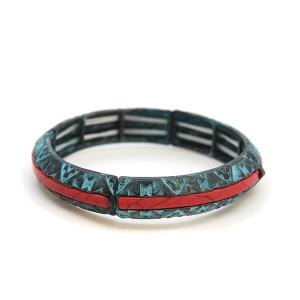 Bracelet 721e 47 Oori western navajo bracelet patina red