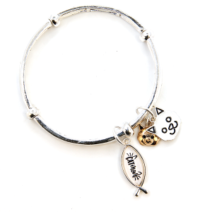 Bracelet 305c 47 Oori cat mom charm bangle