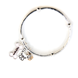 Bracelet 327c 47 Oori dog mom charm bangle