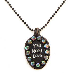 Necklace 1698 47 Oori spoon necklace yall need love patina