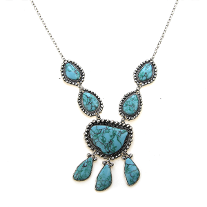 Necklace 1486d 47 Oori Navajo Stone Dangle necklace turquoise