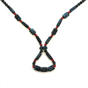 Necklace 2155b 47 Oori Navajo link bead necklace patina