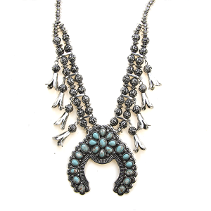 Necklace 1779 47 Oori navajo stone arc necklace silver turquoise