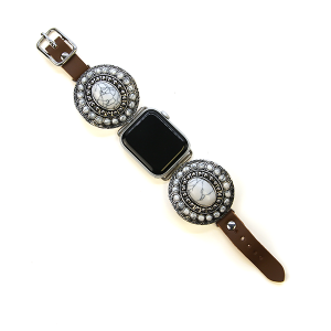 Watch band 091a 38mm 40mm watch band concho brown white