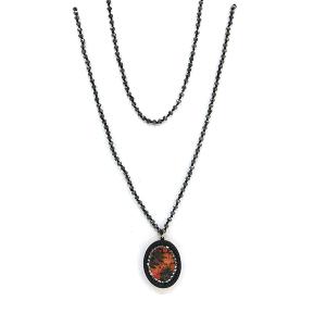 Necklace 1633 47 Oori W western chic bead necklace skinny black