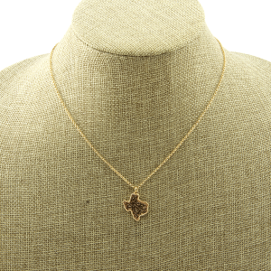 Necklace 1905a 50 Its Sense Texas Charm filigree gold rose gold