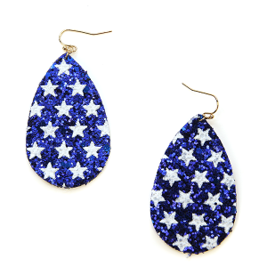 Earring 1165a 50 It's Sense tear drop stars earring USA America blue