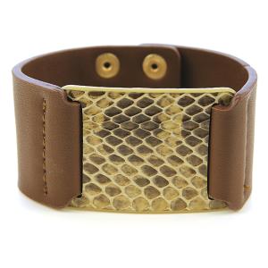 Bracelet 415 50 It's Sense snake leather bracelet brown