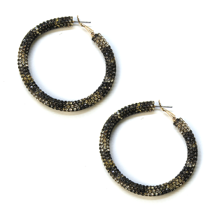 Earring 805g 50 It's Sense rhinestone earrings hoop leopard