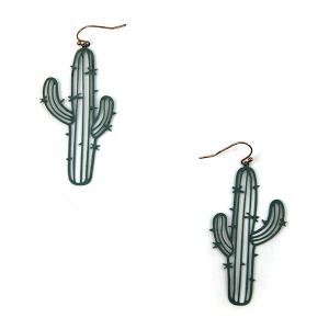 Earring 3843b 50 It's Sense cactus earrings patina