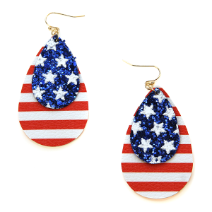 Earring 1112f 50 It's Sense tear drop america earrings usa