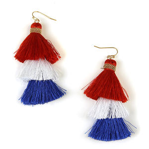 Earring 1180a 50 It's Sense USA America Earrings red white blue