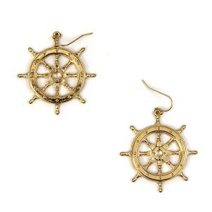 Earring 1679b 50 It's Sense helm earrings gold