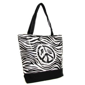 cs 520 zebra peace tote black