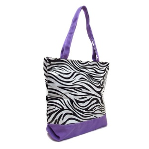 cs 520 zebra tote bag purple