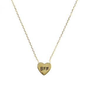 neck 1548e 54 Lucky Charm heart BFF gold