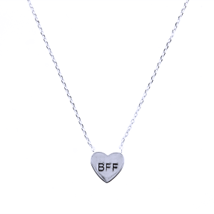 neck 1549i 54 Lucky Charm heart BFF silver