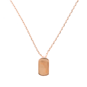 neck 1546d 54 Lucky Charm plate rose gold