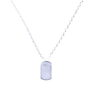 neck 1542e 54 Lucky Charm plate silver