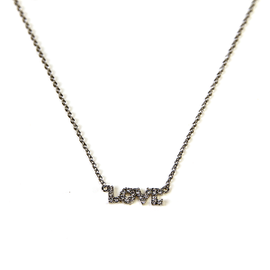 Necklace 890 54 Fresh & Co cubic zirconia love necklace silver