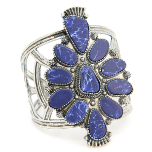 Bracelet 511b 58 Marvel stone tribal cuff blue