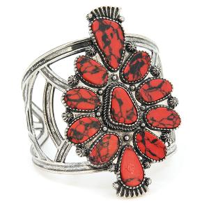 Bracelet 525g 58 Marvel stone tribal cuff red