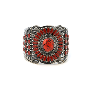 Bracelet 173a 58 Marvel navajo bracelet concho stretch red