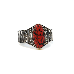 Bracelet 132f 58 Marvel navajo bracelet stretch stone red