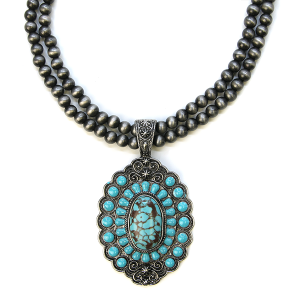 Necklace 501a 58 Tanie Navajo Necklace Concho Turquoise stone
