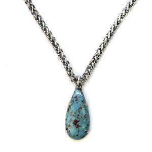 Necklace 484f 58 Tanie snake chain tear drop navajo necklace turquoise stone
