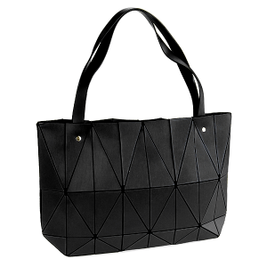 YI 6010 geometric shoulder bag black