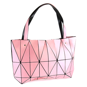 YI 6010 geometric shoulder bag pink