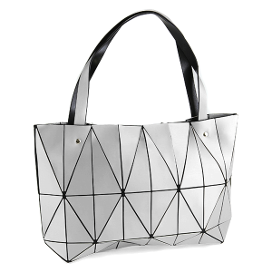 YI 6010 geometric shoulder bag silver