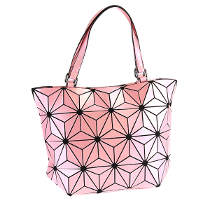 YI 6112 geometric shoulder bag pink