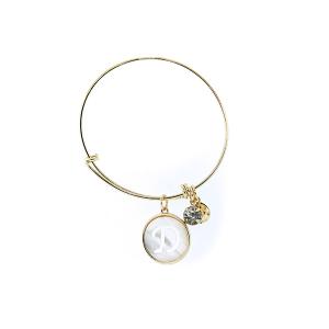 Bracelet 177 64 Isles & Stars mother pearl nacre letter bracelet - D