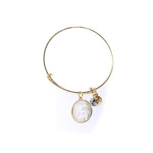 Bracelet 175 64 Isles & Stars mother pearl nacre letter bracelet - E