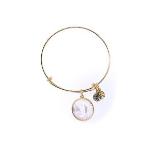 Bracelet 164c 64 Isles & Stars mother pearl nacre letter bracelet - J