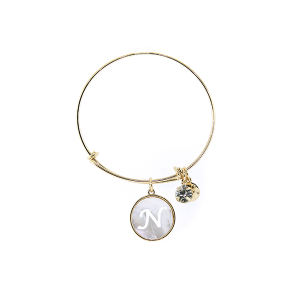 Bracelet 161c 64 Isles & Stars mother pearl nacre letter bracelet - N