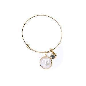 Bracelet 199j 64 Isles & Stars mother pearl nacre letter bracelet - P