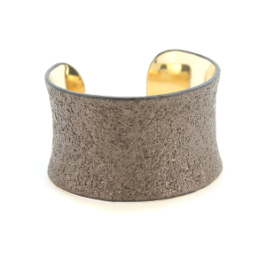 Bracelet 599a 65 Core textured leather cuff brown