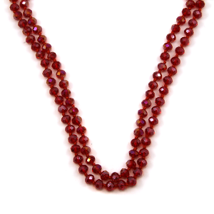 Necklace 591c 30 60 inch bead necklace 38ab red