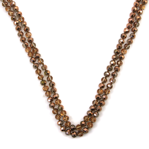 Necklace 006a 30 60 inch bead necklace rose gold 407