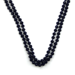 Necklace 1711 67 FJ 30 60 inch bead necklace navy blue 60
