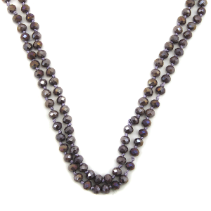 Necklace 1724 67 FJ 30 60 inch bead necklace purple 69ab